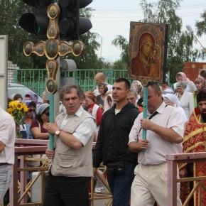 Крестный ход в день памяти святых Царственных мучеников и страстотерпцев 17 июля