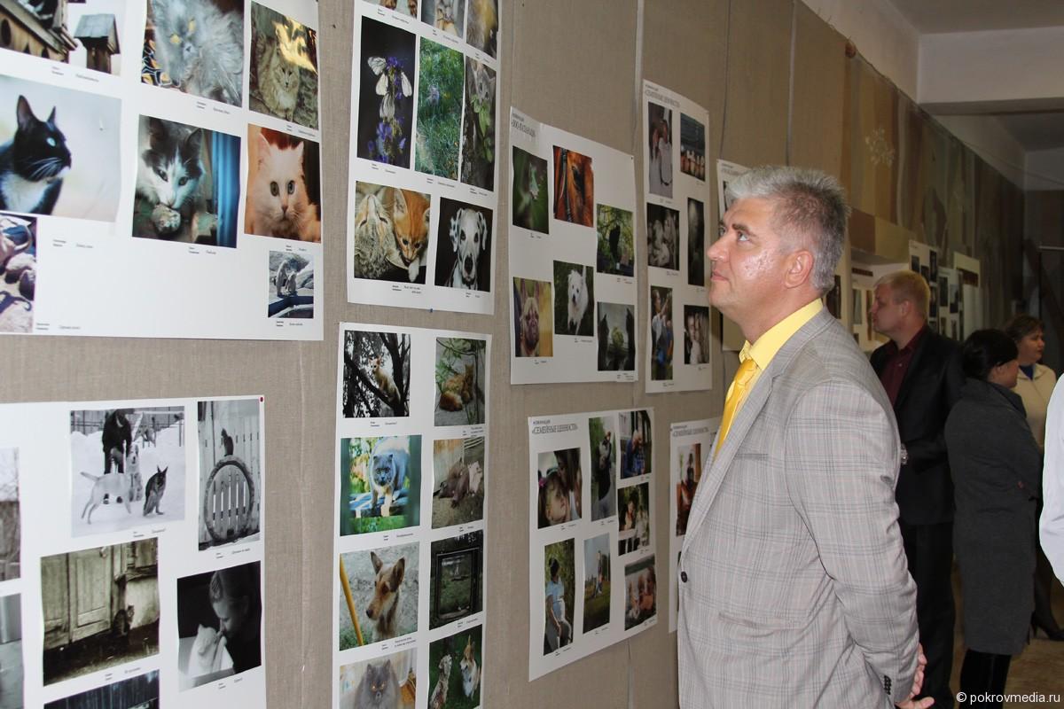 Глава города Покров Е. П. Сас оценил работы фотографов