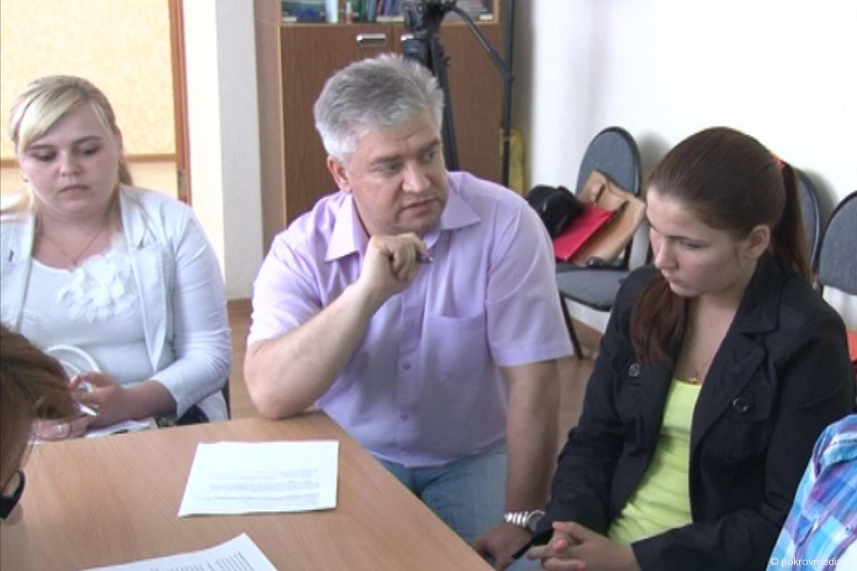 Обсуждение программы с Главой города Покров Е. П. Сасом