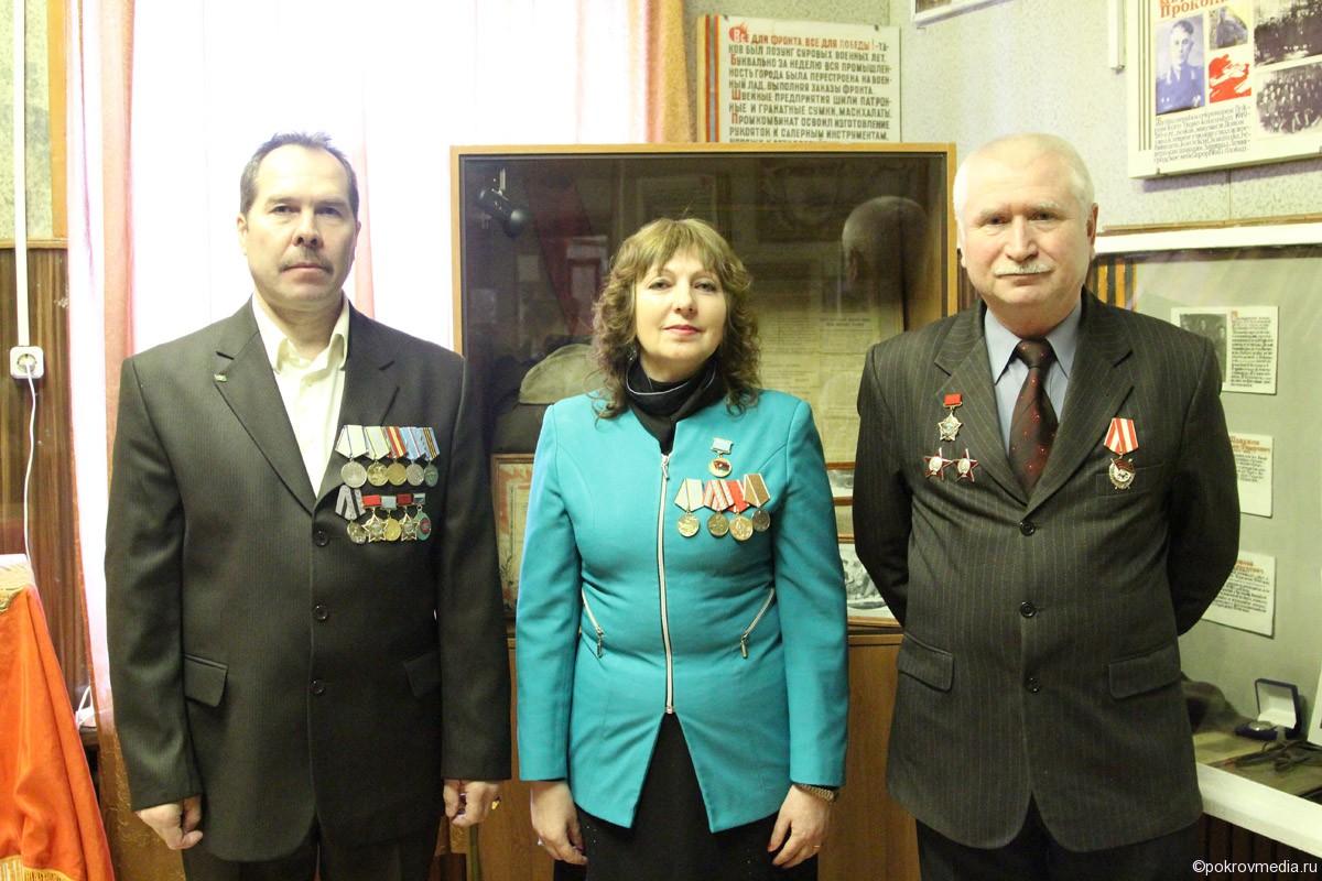 На фото: слева направо С. А. Горенков, Л. П. Королёва, Ю. Л. Власов