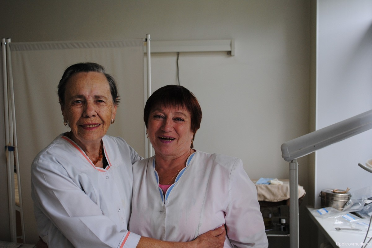 С. А. Райгородская с медсестрой Г. Я. Субботиной.