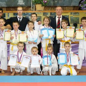 Победители первого районного турнира каратистов