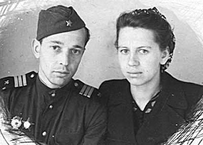 А. Горшков с супругой в послевоенные годы