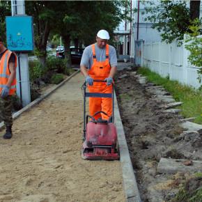 Новый тротуар к 1-ому сентября
