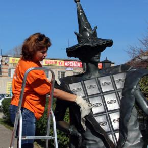 Сквер у Шоколадной феи привели в порядок