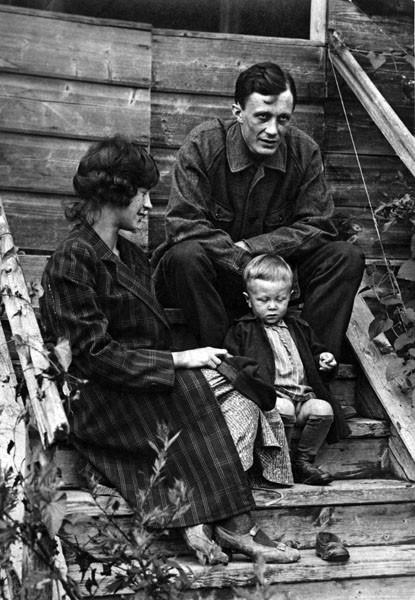 Сергей Фудель с супругой и сыном