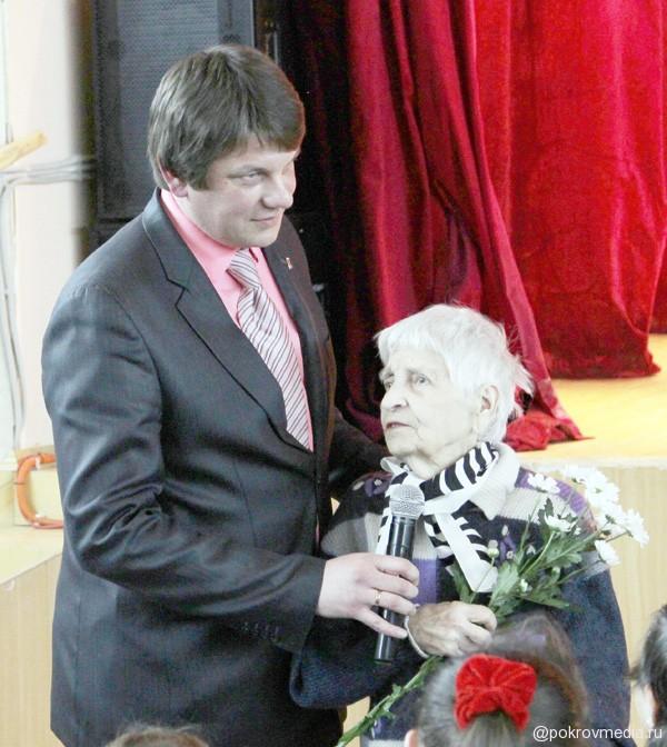 В. А. Кубышкина поздравляет женщин с праздником