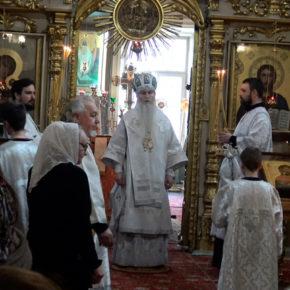 Архиерейское богослужение в Покрове
