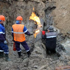 Авария на газопроводе