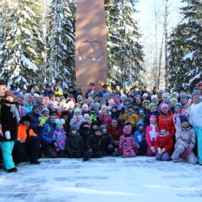Лыжный пробег к мемориалу гибели Ю. Гагарина