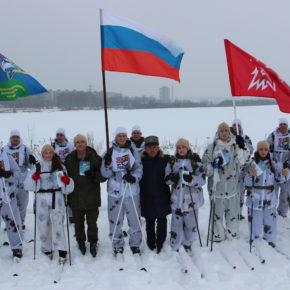 Покровские юнармейцы на лыжном пробеге Суздаль-Владимир