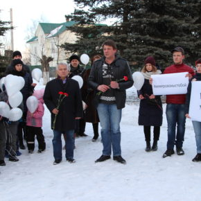 Жители города Владимира и области почтили память погибших в Кемерово